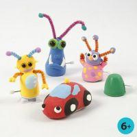 Figuras hechas de Silk Clay con partes móviles