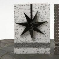 Tarjeta de Navidad con estrella de 7 picos