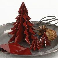 Árbol de navidad de papel de origami brillante
