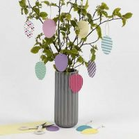 Decorative hanging Eggs from patterned Card