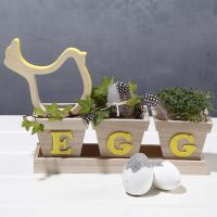 A decorated Flowerpot Set for Easter