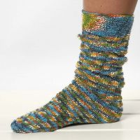 Knitted Socks with a Spiral Pattern