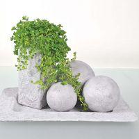 Objetos pintados con pasta Concrete