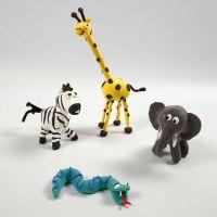 Esqueletos de animales salvajes con Silk Clay