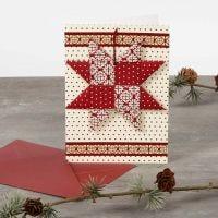 Postal de navidad con estrella