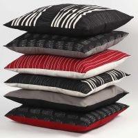 Decorativos cojines de tela de algodón