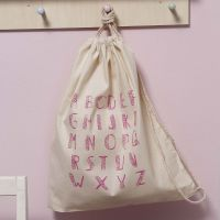 Bolsa de algodón estampada