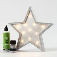 Estrella de madera pintada