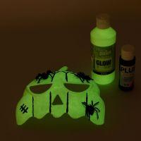 Máscara pintada con pintura luminiscente