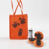Bolsa naranja estampada para este Halloween