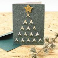 Postal con árbol de Navidad