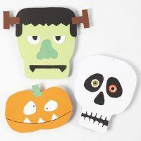 Cartulinas con formas de Halloween