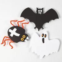Decoraciones de cartulina para Halloween