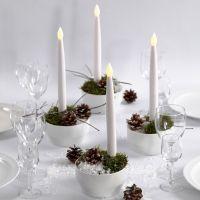 Decoraciones navideñas con velas LED