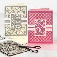 Tarjetas de felicitación con diseños de tarjetas troqueladas