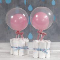 Decoración con pañales para la mesa del Baby Shower