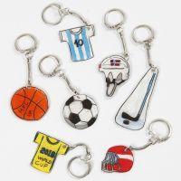 Llaveros de Shrink Plastic de tema deportivo