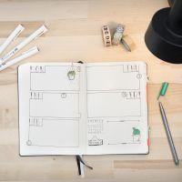 Un Bullet Journal  utilizado como un diario