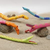 Animales de palo decorador con rotuladores Plus Color.