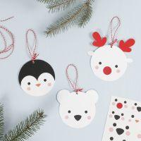 Tarjeta colgante de un Animal Polar Decorativo