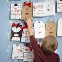 Un calendario de Adviento de bolsas de papel de Animales Polares