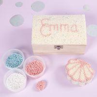 Una joyero decorado con Pearl Clay