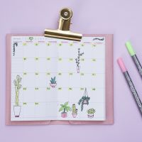 Una decoración semanal de calendario para Bullet journal y planificador