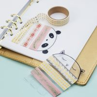 A Masking Tape Holder from Hard Foil for a Bullet Journal and Planner