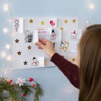Crea tu propio Calendario de Navidad con dibujos, pegatinas y fotos