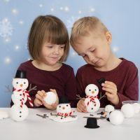 Construye un muñeco de nieve de poliestireno y Foam Clay