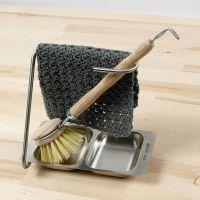 Un paño de cocina tejido a ganchillo con el patrón de puntada crujiente