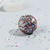 Mini bola de disco con base adhesiva