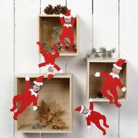 Elfos decorativos personalizados con fotos de los miembros de la familia
