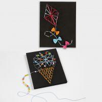 Imágenes 3D con arte de cuerda