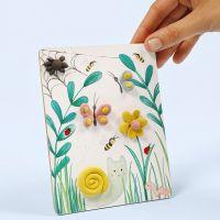 Una imagen con un diseño natural decorado con Silk Clay.