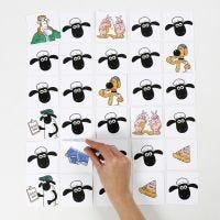 Un juego de memoria de La oveja Shaun decorado con rotuladores