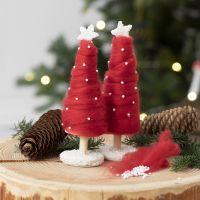 Un árbol de Navidad cubierto con hilo grueso XL