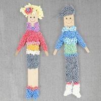 Figuras hechas de palitos de hielo y Foam Clay con um imán