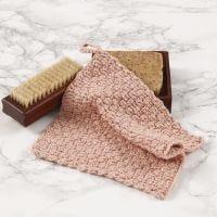 Una franela de ganchillo usando el patrón de ganchillo de tejido de cesta