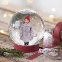 Un globo de nieve con una foto