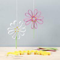 Flores de color de goma espuma