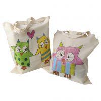 Preciosas bolsas de la compra decoradas con palitos de tinte pastel