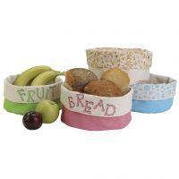 Hermosas cestas de tela con diseños estampados